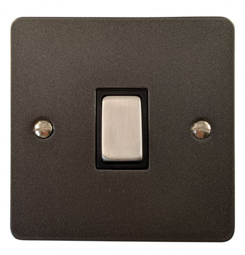 G&H FP305 Flat Plate Pewter 1 Gang Intermediate Rocker Light Switch